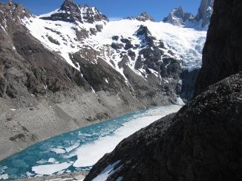 Laguna Sucia vue depuis le Laguna Los Tres